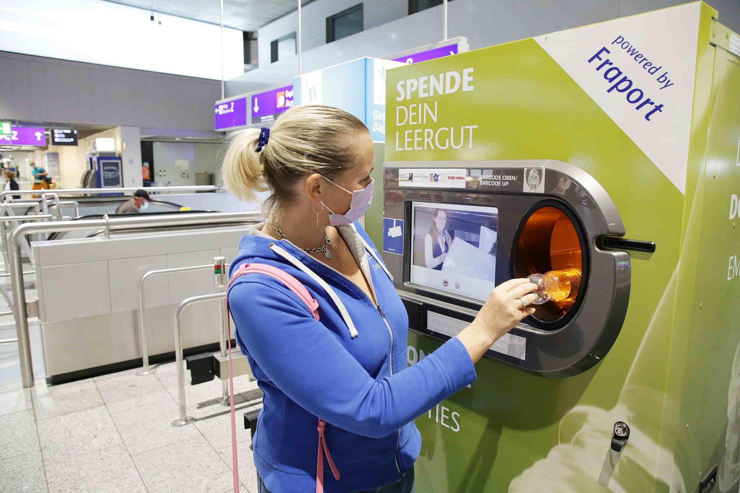 Make-A-Wish-Deutschland-Aktuelles-Pfandflaschen am Flughafen für Make-A-Wish spenden-fraport